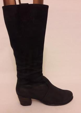 Высокие кожаные сапоги фирмы ara ( германия) р. 41 стелька 26,5 см