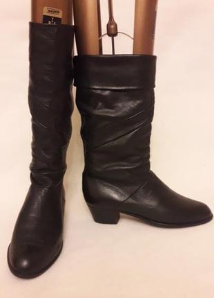 Мягкие кожаные сапоги фирмы elastomerе ( италия) р. 40 стелька 26 см