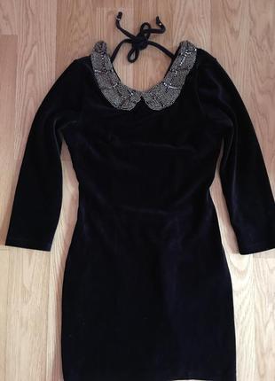 Бархатное платье мини