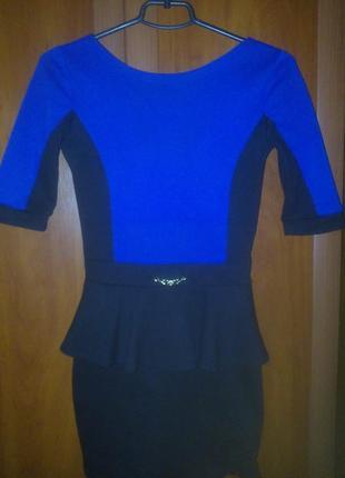 Сине-черное платье