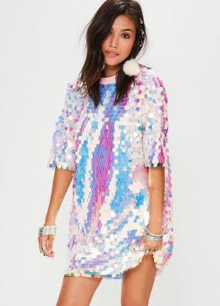 Оверсайз платье в паейтках от missguided