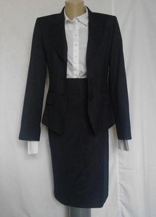 Шикарный деловой костюм,юбка,пиджак,шерсть,качество и стиль tm lewin