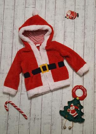 Новогодний свитшот свитер кофта костюм деда мороза санта клауса 🎅 12 - 18 мес. 1-1,5 года