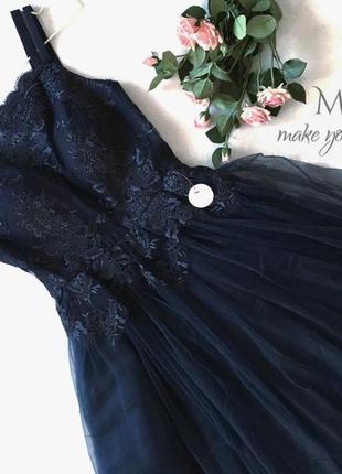 Ажурное платье с пышной фитиновой юбкой3 фото