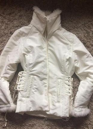Куртка с имитацией корсета