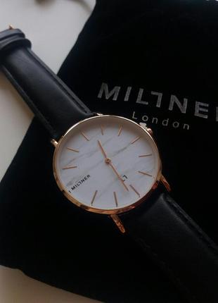 Часы кварцевые millner очень стильные модные лаконичные мраморный циферблат