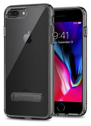 Чехол с подставкой  spigen ultra hybrid s для  iphone 7 8 и plus оригинал