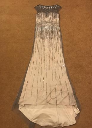 Платье в стразах + шаль в подарок