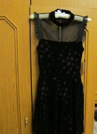 Нарядное черное коктейльное платье