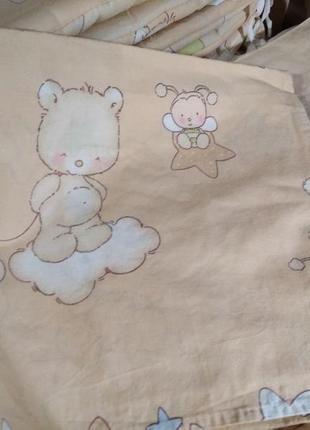 Полный комплект постельного белья для новорожденных
