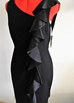 """Классическое маленькое черное платье с вертикальной каскадной оборкой сбоку""""10""""usa"""