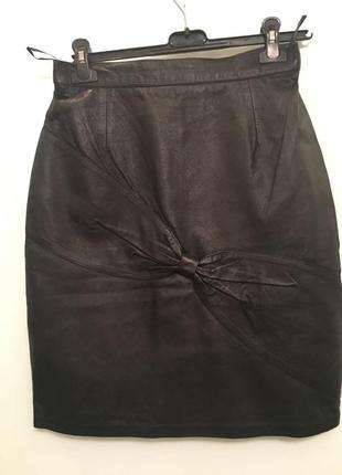 Шикарная юбка нат.кожа италия