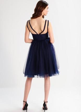Ажурное платье с пышной фитиновой юбкой4 фото