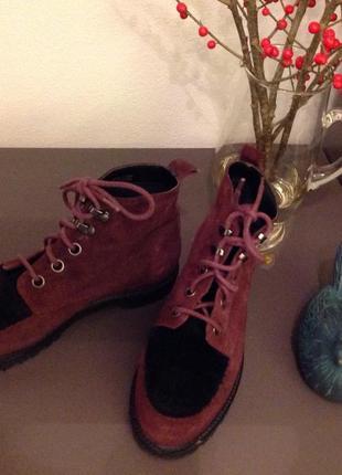 Стильні замшеві черевики від topshop