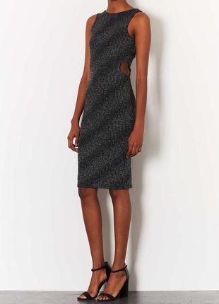 Миди платье с люрексом topshop