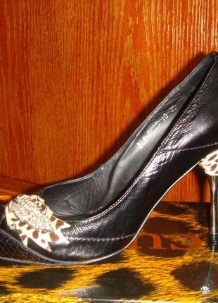 Красивые туфли кожа хорошего бренда