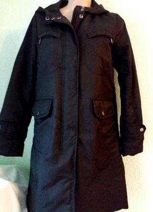 Утепленный плащ-пальто с капюшоном,valencia.