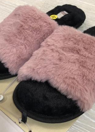 Новые меховые тапочки 36 размер (италия)