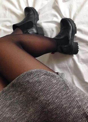 Короткое платье в рубчик h&m