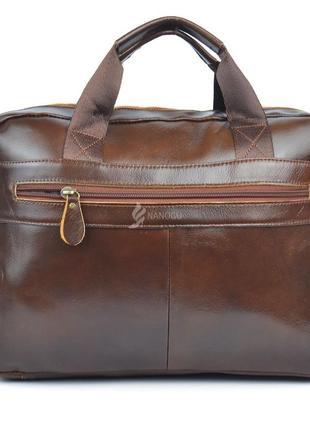 9d012afd2237 ... Сумка мужская кожаная портфель коричневая premium украина из телячьей  кожи3