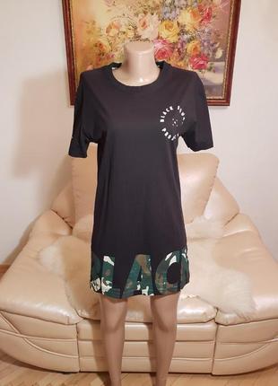 Короткое черное платье s