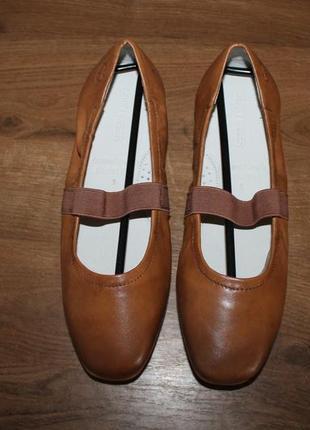 Мягкие кожаные балетки gerry weber, 38 размер
