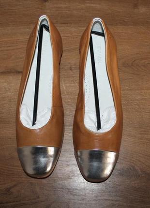 Стильные кожаные балетки gerry weber, 38 размер