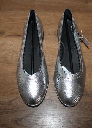 Легкие кожаные туфли с перфорацией gerry weber, 37.5 размер