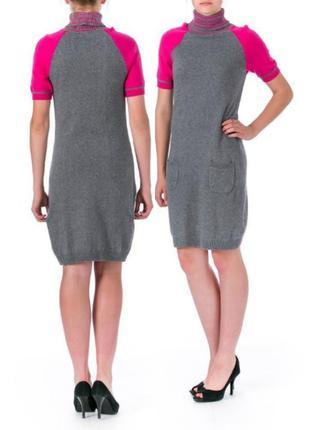 """Tommy hilfiger платье-свитер (m) c  воротником """"гольф"""" и короткими рукавами реглан"""