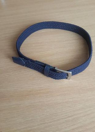 Ремень для мальчика темно-синий 75 см.на 1.5 см. резинка