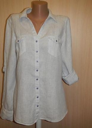 Рубашка marks&spencer p.14(42) блуза льняная