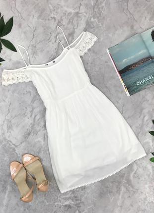 Воздушное платье с отделкой белого цвета  dr1851101