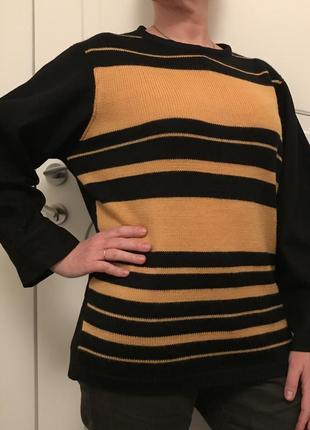 Свитер свитшот @don.bacon чёрно-желтый шерстяной