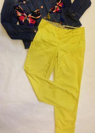 Лимонные брюки, брюки-чиносы