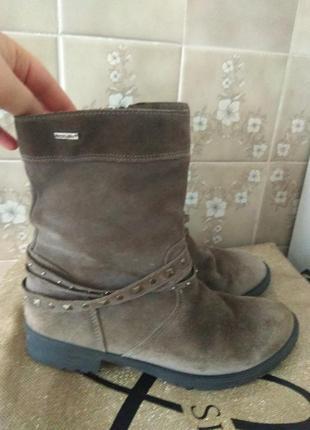Замшевые термо ботинки 26.5см