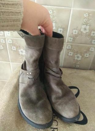 Замшевые термо ботинки 26.5см3