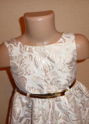 d3bed69d428 ... Ff нарядное золотистое парчевое платье на 2-3 года2 ...