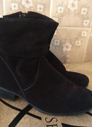 Замшевые деми ботинки 25см