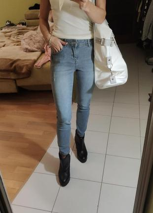 Супер цена! светло-серые укороченные джинсы lc waikiki скинни 26 размер