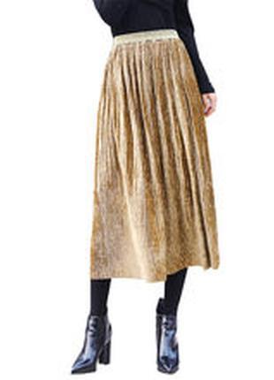 Велюровая юбка