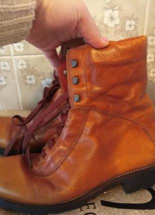 Кожаные деми ботинки ecco 26.5см1 фото