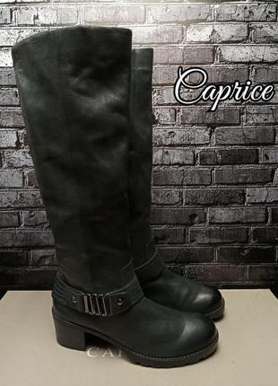 Кожаные сапоги caprice