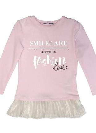 Новая розовая туника для девочки, original marines, 3615