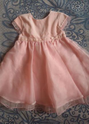 Детское платье mamas$papas на 9-12мес