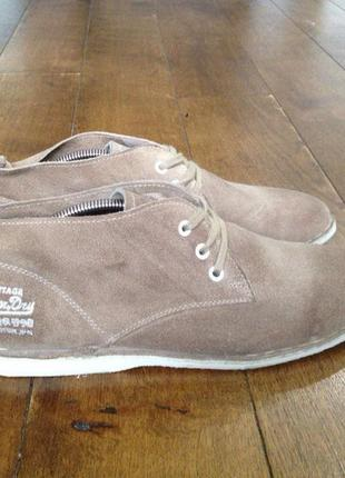 Ботинки superdry натуральная замша англия р. 44, 28.5 см. идеальное состояние.