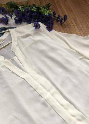 Нежная шифоновая блуза большого размера 542