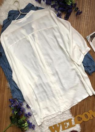 Нежная шифоновая блуза большого размера 543