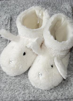 Тапочки сапоги пушистые зайцы звери с ушками купить цена