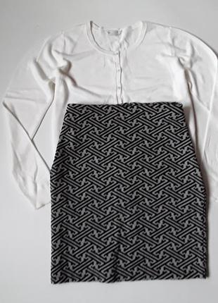 Трикотажная юбка карандаш + кардиган 🎁 -  раз 16\18 см