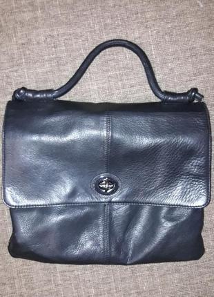 Кожаный портфель большая кожаная сумка кроссбоди crossbody